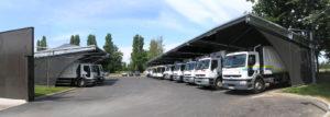 Bureaux et vestiaires des Services environnement et déchets | Protection des camions BOM | Tours | Tour(s)Plus